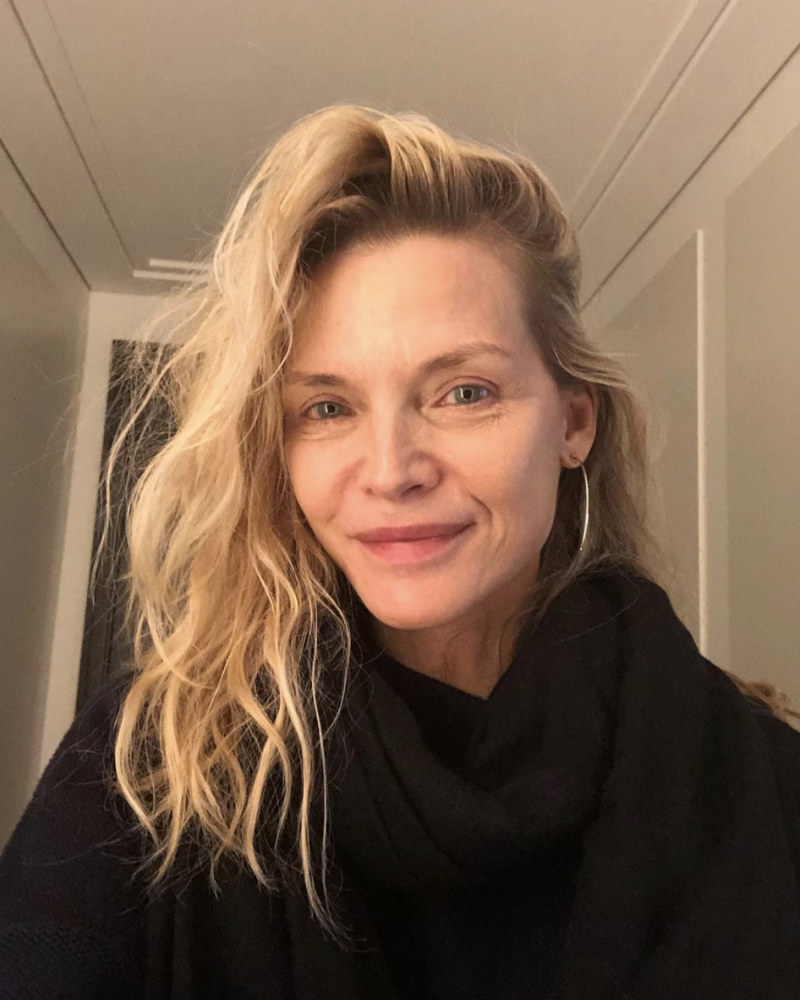 Michelle Pfeiffer delighted fans with this makeup-free selfie. Photo: Instagram/michellepfeifferofficial.