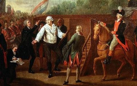 Louis XVI mounting the guillotine in January 1793 - Credit: Alamy