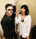 <p>To be fair, these celebrity Halloween costumes don't quite match, but, hey, at least they're both festive. Richard Madden went for the classic skeleton look, while Gemma Chan committed to Uma Thurman's <em>Pulp Fiction</em> character, Mia Wallace, in 2019.</p>