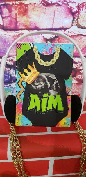 PHOTO: The invitation to the baby shower featured the baby's initials, 'A.I.M,' along with his sonogram picture. (Courtesy of Chaunae Berry)