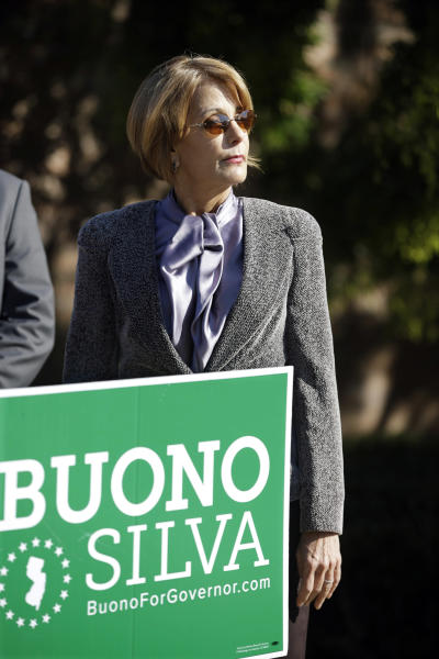 Democratic candidate for governor, Barbara Buono waits to address supporters during a campaign stop, in South Brunswick, N.J., Monday, Oct. 28, 2013. Buono will face popular Republican Gov. Chris Christie in an election Tuesday, Nov. 5, 2013. (AP Photo/Mel Evans)