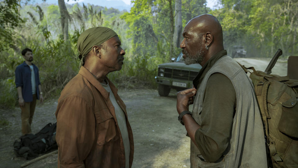 Clarke Peters and Delroy Lindo in 'Da 5 Bloods,' which was snubbed by the Golden Globes (Photo: David Lee/Netflix)