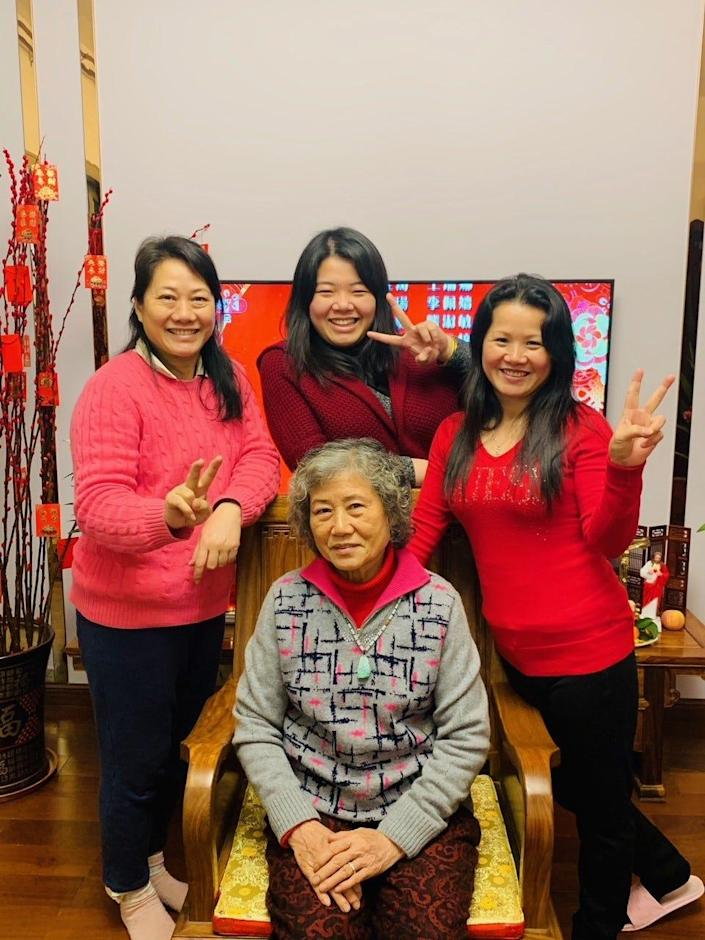 Xiaojie Tan (right) traveled to China last year to celebrate the Chinese New Year with her mom, sister and niece.