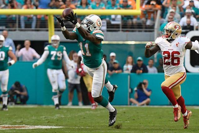 DeVante Parker enters another season as a well-hyped breakout candidate. (Photo by Eric Espada/Getty Images)