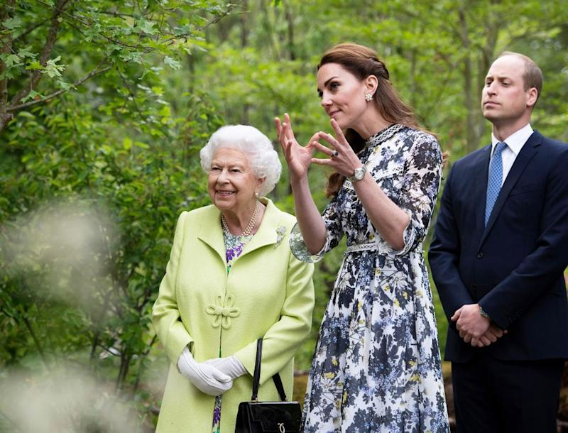 Queen Elizabeth, Kate Middleton and Prince William | REX/Shutterstock