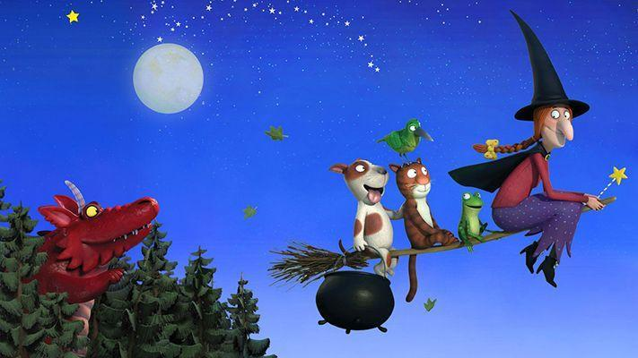 "<p>This delightful half-hour stop-motion movie is based on the <a href=""https://www.amazon.com/Room-Broom-Julia-Donaldson/dp/0142501123?tag=syn-yahoo-20&ascsubtag=%5Bartid%7C10055.g.23570139%5Bsrc%7Cyahoo-us"" rel=""nofollow noopener"" target=""_blank"" data-ylk=""slk:book by Julia Donaldson"" class=""link rapid-noclick-resp"">book by Julia Donaldson</a>, and features the voices of Gillian Anderson and Simon Pegg. It follows a witch who keeps accepting passengers on an increasingly crowded broom. <br></p><p><a class=""link rapid-noclick-resp"" href=""https://www.netflix.com/watch/80005738"" rel=""nofollow noopener"" target=""_blank"" data-ylk=""slk:WATCH NOW"">WATCH NOW</a></p>"
