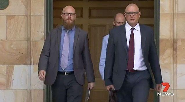 Richard Warner appeared at Adelaide Magistrates Court on Wednesday. Source: 7News