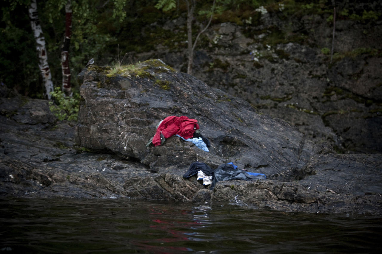 In this photo provided on Friday Feb. 10, 2012 by World Press Photo, the 2nd prize Spot News Stories of the 2012 World Press Photo contest by Niclas Hammerstrom, Sweden, for Aftonbladet in Utoya, Norway, July 22, 2011. Anders Behring Breivik killed 69 people on 22 July on the small island of Utoya outside Oslo in Norway. (AP Photo/Niclas Hammerstrom/ Aftonbladet )