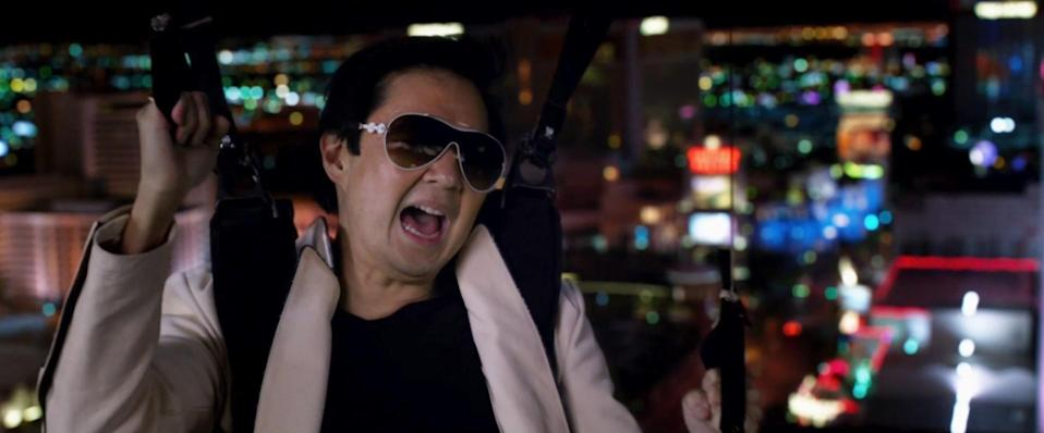 Mr Chow seems like an Asian stereotype and Ken Jeong says that's exactly the point