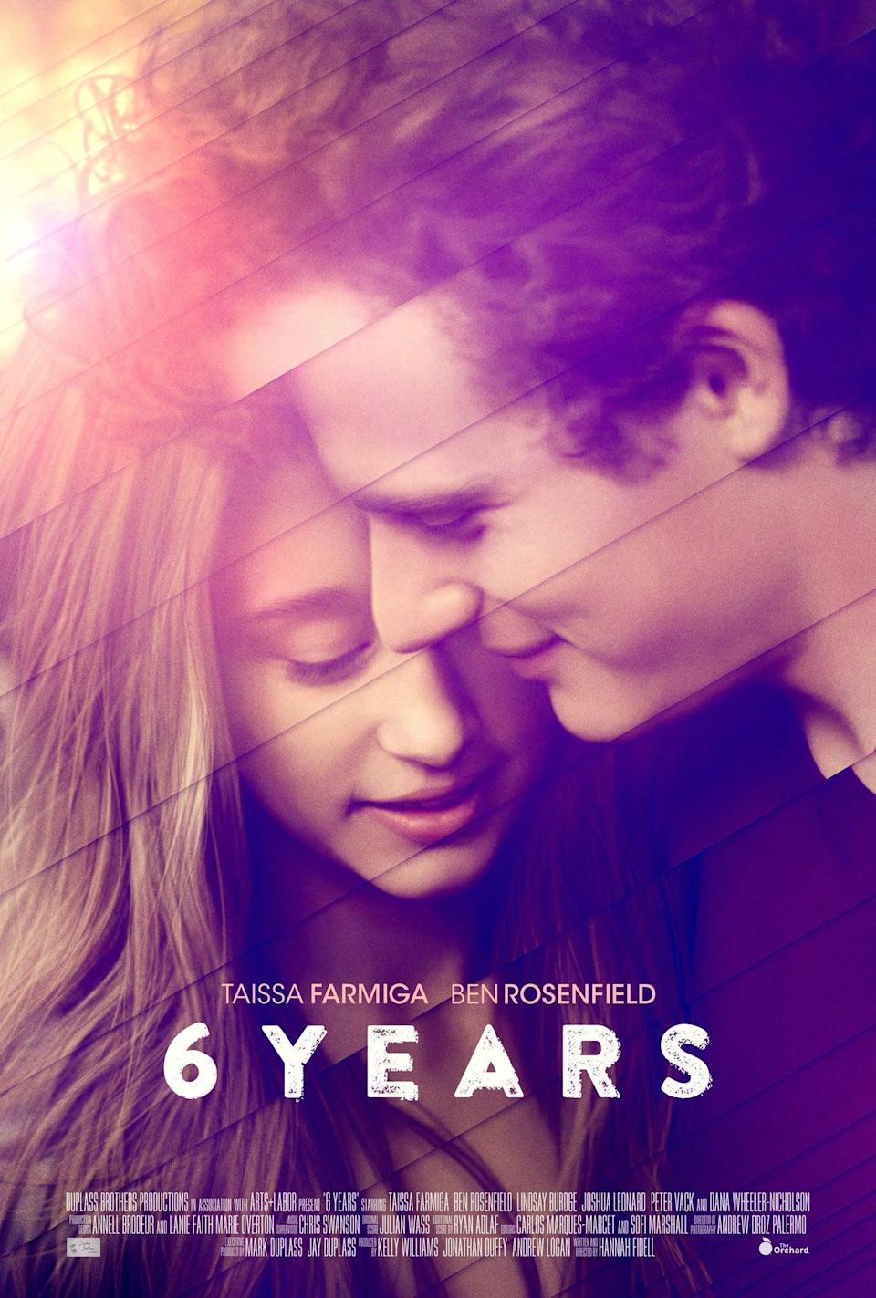 """<p>Produced by the Duplass brothers, <strong>6 Years</strong> stars Taissa Farmiga and Ben Rosenfield as a long-term couple whose relationship suddenly turns violent when faced with new challenges and obstacles. It's a heartbreaking look at the highs and lows of first love, and how it becomes all too easy to lose ourselves in our most meaningful relationships.</p> <p>Watch <a href=""""http://www.netflix.com/title/80045922"""" class=""""link rapid-noclick-resp"""" rel=""""nofollow noopener"""" target=""""_blank"""" data-ylk=""""slk:6 Years""""><strong>6 Years</strong></a> on Netflix now.</p>"""
