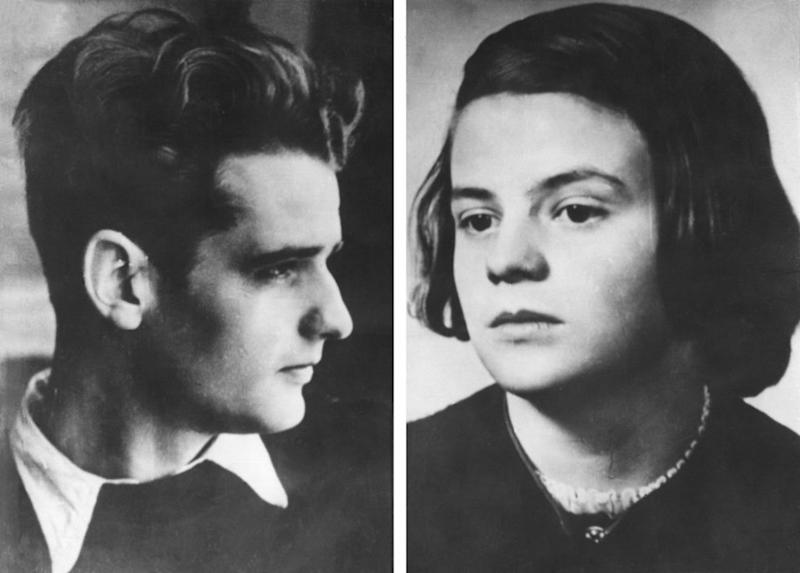 Hans and Sophie Scholl famously turned against their Hitler Youth roots by distributing anti-Nazi pamphlets. | ADN Zentralbild—Getty Images)