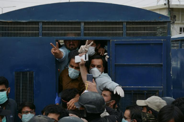 More than 50 doctors who called for more protective equipment were arrested in the city of Quetta earlier this month