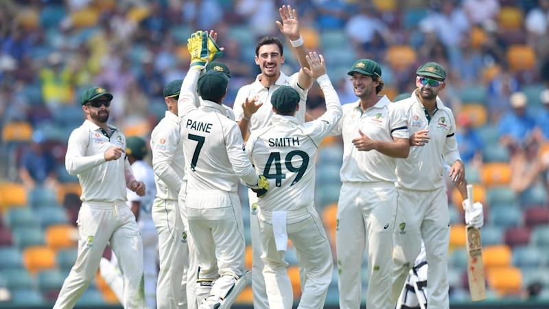 Mitchell Starc missed a hat-trick but Australia still ruled day one against Pakistan at the Gabba