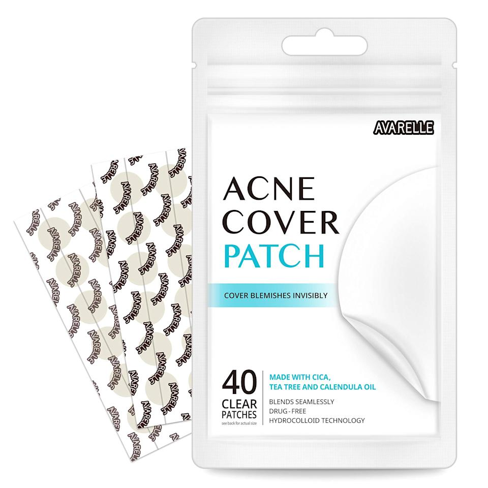 """<h2>35% Off Avarelle Acne Absorbing Patch</h2><br>Readers swear by this 40-pack of hydrocolloid, tea-tree, and calendula-oil-infused patches that are designed to soothe and clear acne overnight — and right now, it's on special 35%-off Prime Day promotion.<br><br><em>Shop</em> <strong><em><a href=""""https://amzn.to/3cXIeda"""" rel=""""nofollow noopener"""" target=""""_blank"""" data-ylk=""""slk:Averelle"""" class=""""link rapid-noclick-resp"""">Averelle</a></em></strong> <br><br><strong>Avarelle</strong> Acne Absorbing Cover Patch Hydrocolloid, $, available at <a href=""""https://www.amazon.co.uk/Pimple-Patch-Absorbing-Calendula-PATCHES/dp/B075QNC39Q/ref=sr_1_5?"""" rel=""""nofollow noopener"""" target=""""_blank"""" data-ylk=""""slk:Amazon"""" class=""""link rapid-noclick-resp"""">Amazon</a>"""