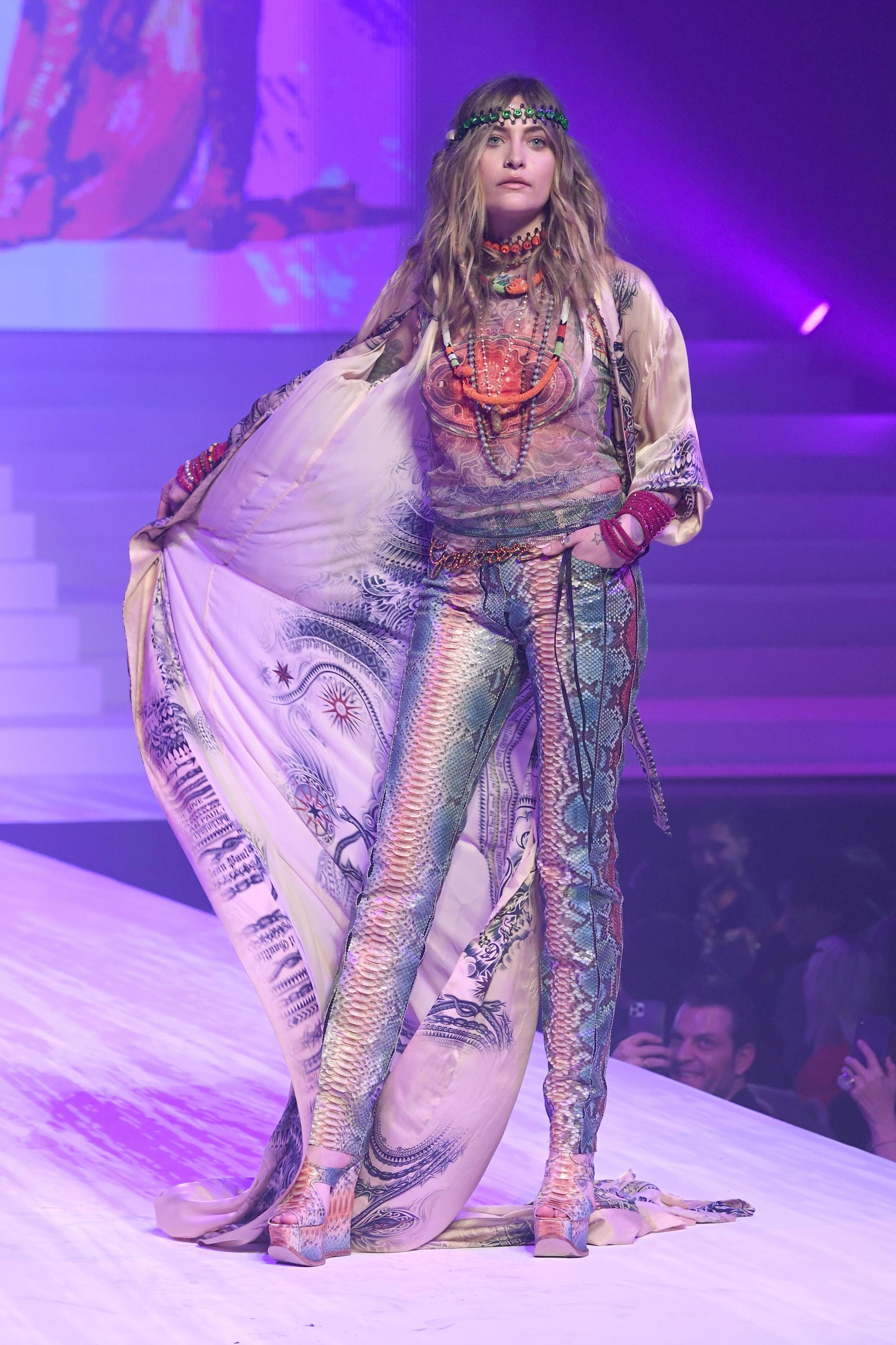 Paris Jackson walks the runway during the Jean-Paul Gaultier Haute Couture Spring/Summer 2020 show as part of Paris Fashion Week at Theatre Du Chatelet on January 22, 2020 in Paris, France. [Photo: Getty]