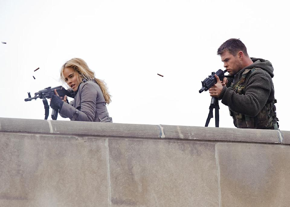 """Isabel Lucas and Chris Hemsworth in Open Road Film's """"Red Dawn"""" - 2012"""