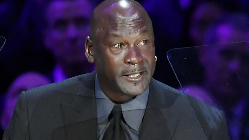 Charlotte Hornets owner and NBA legend Michael Jordan is pictured.