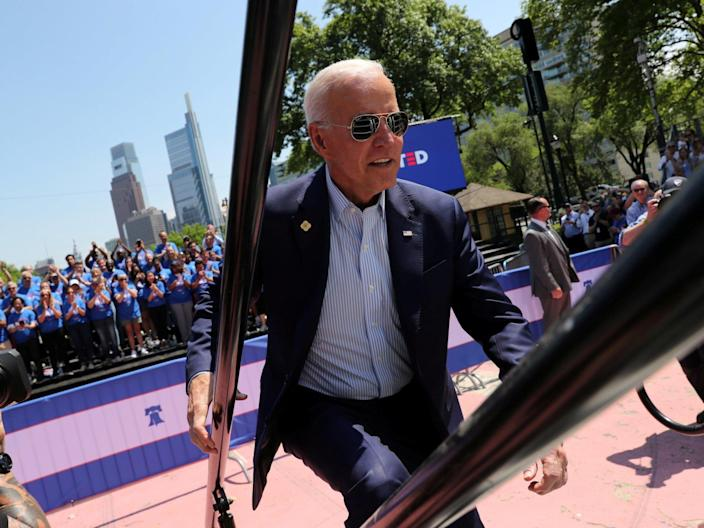 """Joe Biden may be leading national polls among Democratic voters, but a new poll shows his dominance doesn't necessarily extend to Iowa.Mr Biden is matched by Bernie Sanders in the state, a sharp drop from his 11 point lead in a separate poll last month. Both candidates can claim 24 per cent support in the state, which will vote first in the nominating process next year.Mr Biden and Mr Sanders are followed in the new poll by several candidates with significant showings, including Pete Buttigieg (14 per cent), Elizabeth Warren (12 per cent), and Kamala Harris (10 per cent).Reading into the polls just a bit more, Mr Biden has more to worry about than just Mr Sanders, too.Ms Warren stands out as the most liked candidate in the race, with a favourability rating at 78 per cent — the top in the race. She is followed by Mr Sanders, who is the next closest with 71 per cent.""""Good news for Elizabeth Warren: her favourability exceeds that of any other candidate in the race and her name recognition is near universal,"""" said principal pollster Jane Loria in a news release.She continued: """"In some states, we see a large spread between the front-runners and the so-called second-tier in the excitement barometer, but in Iowa the candidates are all pretty tightly clustered. When we ask respondents to identify the five candidates they're most excited about, 54% say Warren, followed by Biden (53%), then Harris (53%), Sanders (49%), and Buttigieg (46%)The terrain looks much better for Mr Biden when looking at the other states that follow close after Iowa, however. In New Hampshire, Mr Biden beats Mr Sanders 36 per cent to 18 per cent. In South Carolina, meanwhile, Mr Biden recently got 46 per cent support compared to Mr Sanders' 15 per cent.But, any fragility in Iowa could have real consequences for Mr Biden's third presidential race. The state has an outsized influence on the presidential nominating process, and a loss there would show potentially significant vulnerabilities for the forme"""