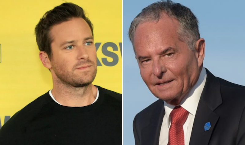 Armie Hammer calls out Marvel chairman for donating to Trump campaign