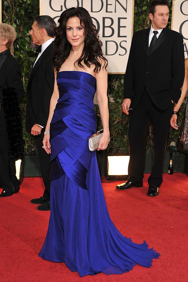 "Mary-Louise Parker (""Weeds"") was breathtaking in cobalt blue. Steve Granitz/<a href=""http://www.wireimage.com"" target=""new"">WireImage.com</a> - January 11, 2009"