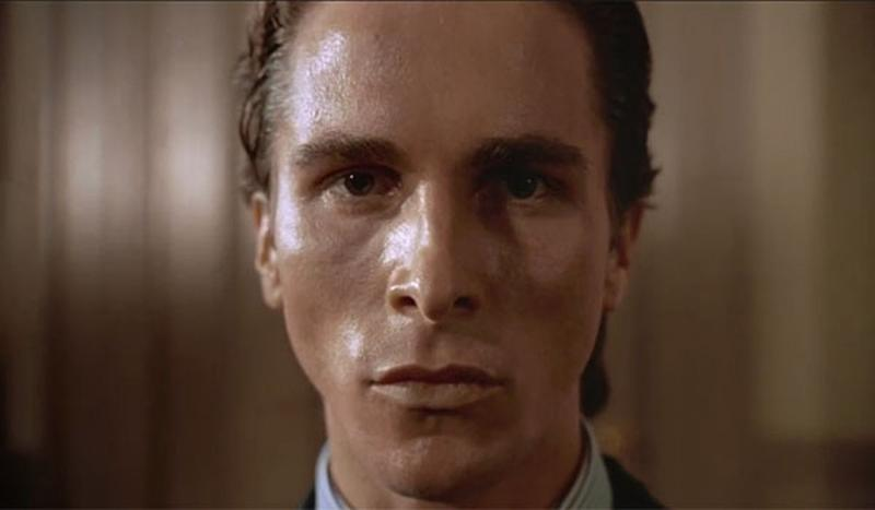 Famous narcissistic psychopath, Patrick Bateman was played by Christian Bale in the film American Psycho. Image: Lions Gate Films, Sony Pictures Releasing.