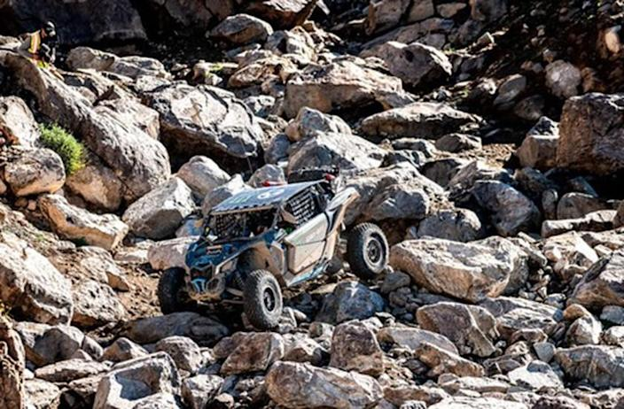 """The southeast portion of the riding area offers a large mass of hills known to the rock crawler world wide as the """"Hammers."""" This area is for experts and has gained the attention of off-roaders in recent years through an event called """"King of the Hammers,"""" experts only need apply. North of the Hammers offers a quality riding experience for novice and intermediate riders and some small dune riding experience."""