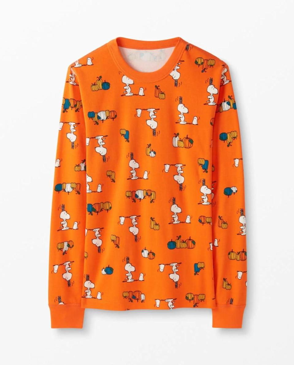 <p>Don't you love the color of this <span>Adult Peanuts Halloween Long John Top</span> ($48)?</p>