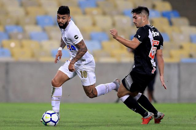 Gabigol deu show contra o Vasco. Foto: Getty Images