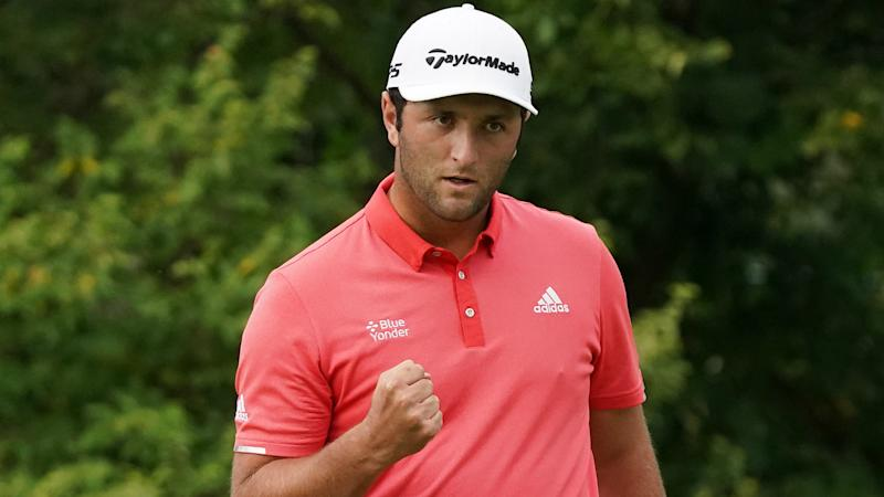 Rahm denies Johnson back-to-back titles with stunning 66-foot putt to win BMW Championship play-off