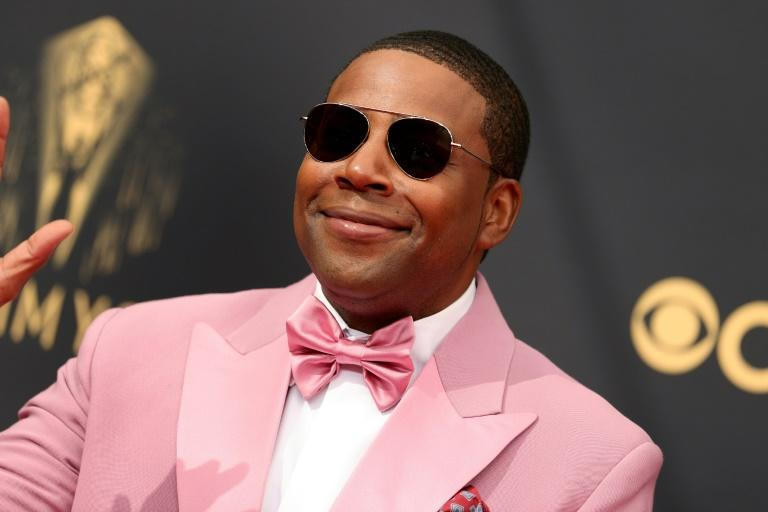 Double Emmy nominee Kenan Thompson sported a pink tux (AFP/Rich Fury)
