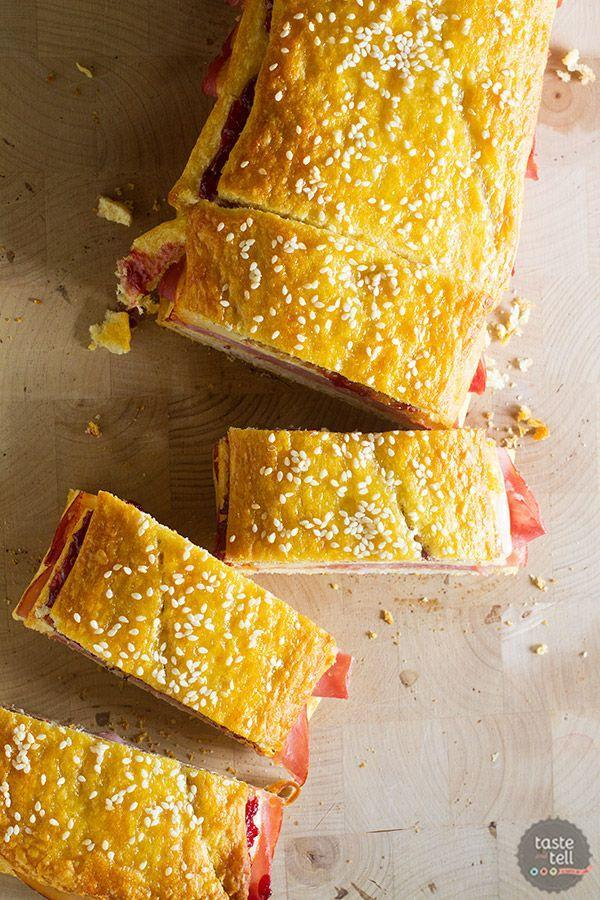 """<p>This mega-sized Monte Cristo is perfect for portioning out to a large lunch gathering.</p><p><strong>Get the recipe at <a href=""""https://www.tasteandtellblog.com/crescent-cristo-sandwich-loaf/"""" rel=""""nofollow noopener"""" target=""""_blank"""" data-ylk=""""slk:Taste and Tell"""" class=""""link rapid-noclick-resp"""">Taste and Tell</a>.</strong> </p>"""