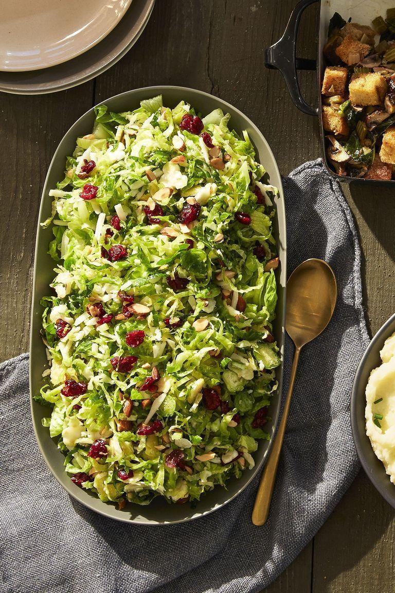 """<p>Pro tip: You can eat Brussels sprouts raw if they're super thin. Try this super refreshing dish as a side to any meal, as it features <a href=""""https://www.goodhousekeeping.com/food-recipes/cooking/g532/types-of-lettuce/"""" rel=""""nofollow noopener"""" target=""""_blank"""" data-ylk=""""slk:water-packed romaine lettuce"""" class=""""link rapid-noclick-resp"""">water-packed romaine lettuce</a> as well.</p><p><em><em><a href=""""https://www.goodhousekeeping.com/food-recipes/a41099/lemony-brussels-sprout-salad-recipe/"""" rel=""""nofollow noopener"""" target=""""_blank"""" data-ylk=""""slk:Get the recipe for Lemony Brussels Sprout Salad"""" class=""""link rapid-noclick-resp"""">Get the recipe for Lemony Brussels Sprout Salad </a><em><em><a href=""""https://www.goodhousekeeping.com/food-recipes/a41099/lemony-brussels-sprout-salad-recipe/"""" rel=""""nofollow noopener"""" target=""""_blank"""" data-ylk=""""slk:»"""" class=""""link rapid-noclick-resp"""">»</a></em></em></em></em></p>"""