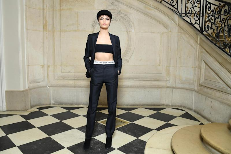 Critics: The model was bashed by trolls online: Getty Images for Christian Dior