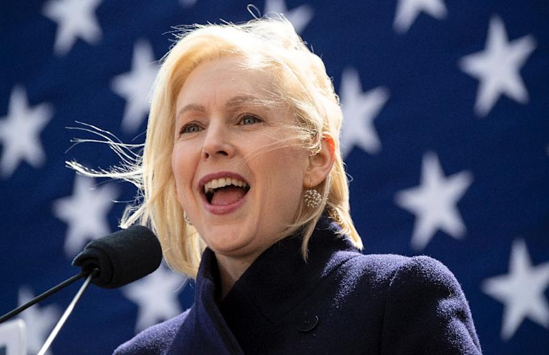 US Senator Kristen Gillibrand of New York emphasized transparency as she kicked off her bid for the 2020 Democratic presidential nomination (AFP Photo/Johannes EISELE)
