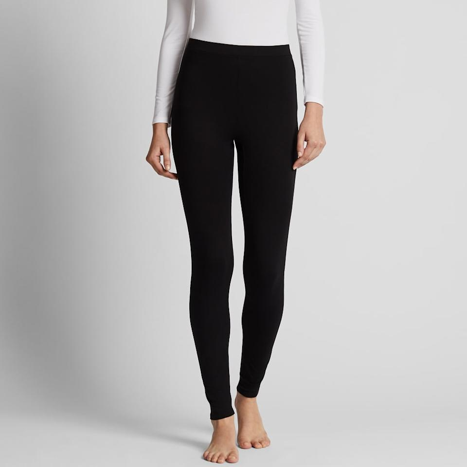 """<p>Uniqlo's highly-rated <product href=""""https://www.uniqlo.com/us/en/women-heattech-extra-warm-leggings-421304.html"""" target=""""_blank"""" class=""""ga-track"""" data-ga-category=""""internal click"""" data-ga-label=""""https://www.uniqlo.com/us/en/women-heattech-extra-warm-leggings-421304.html"""" data-ga-action=""""body text link"""">Heattech Extra Warm Leggings</product> ($24) are made with bio-warming material that converts body moisture to heat.</p>"""