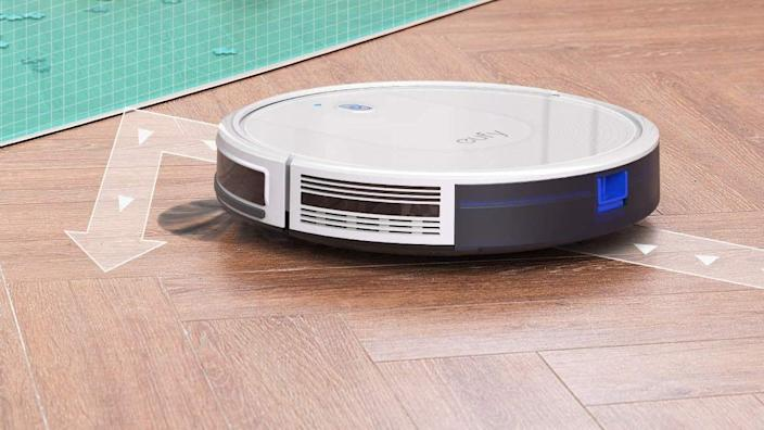 Eufy's 30C robot vacuum got high marks from customers for its multifloor versatility.