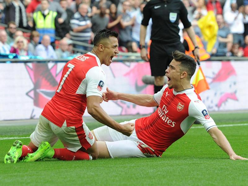 Alexis Sanchez won Arsenal their FA Cup semi-final against Manchester City (Getty)
