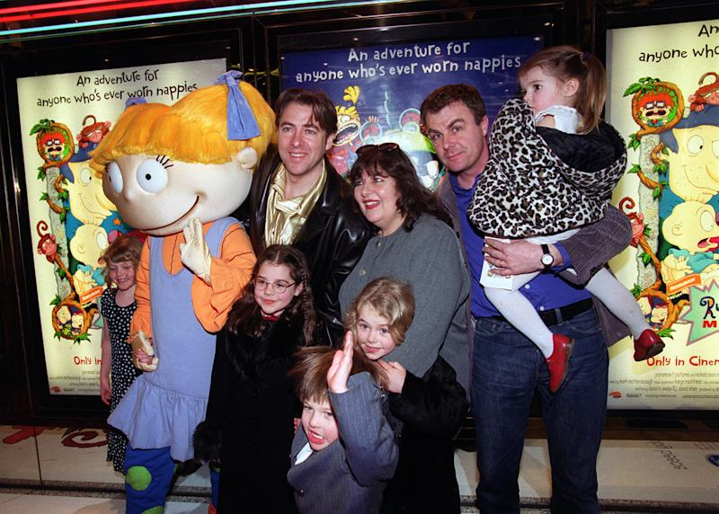 Brothers and TV Presenters Jonathan (L) and Paul Ross at the European Charity Premiere of the animated film 'Rugrats - The Movie' in Leicester Square, London.