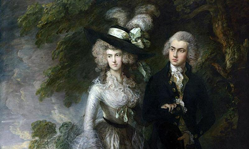 Detail from Mr and Mrs William Hallett ('The Morning Walk') by Thomas Gainsborough.