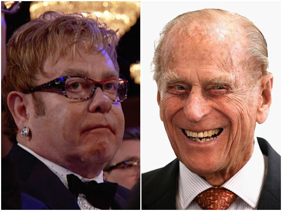 Elton John and Prince Philip (NBC/Chris Jackson/Getty Images)