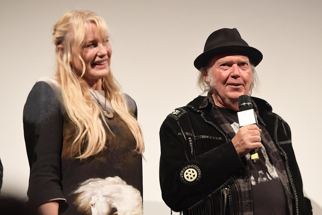 Neil Young with his wife, actress Daryl Hannah. (Photo: Matt Winkelmeyer/Getty Images for SXSW)
