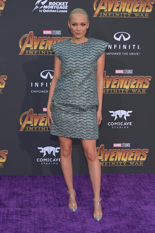 <p>The actress who plays Mantis posed for paps. (Photo: Neilson Barnard/Getty Images) </p>