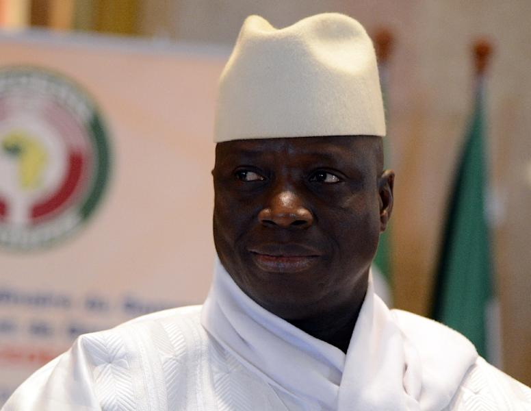 Jammeh flew into self-imposed exile in Equatorial Guinea -- whether he will eventually be put in the dock is far from certain (AFP Photo/ISSOUF SANOGO)