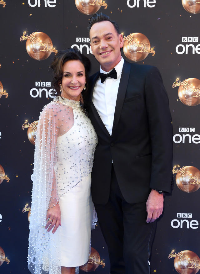 Shirley Ballas and Craig Revel-Horwood attend the red carpet launch for 'Strictly Come Dancing 2018' at Old Broadcasting House on August 27, 2018 in London, England. (Photo by Karwai Tang/WireImage)