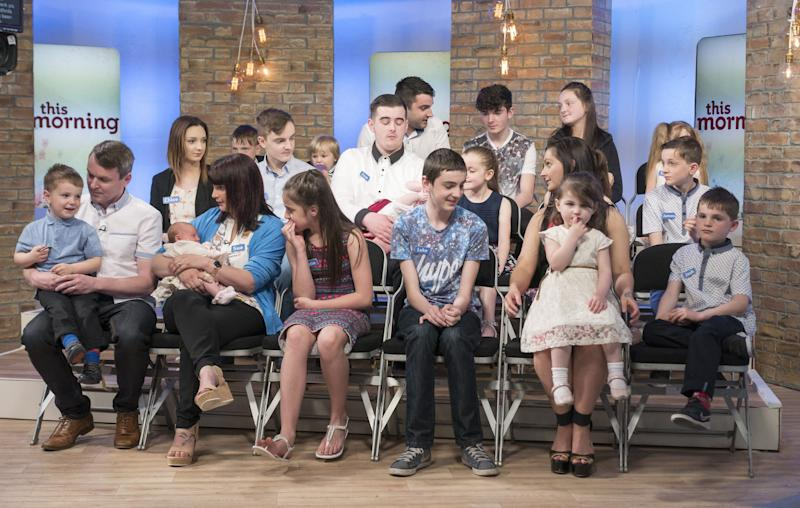 The Radford family, pictured on 'This Morning' in 2015 [Photo: Rex]