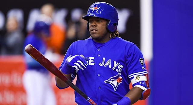 Vladimir Guerrero Jr. will not make his MLB debut this season. (Photo by David Kirouac/Icon Sportswire via Getty Images)