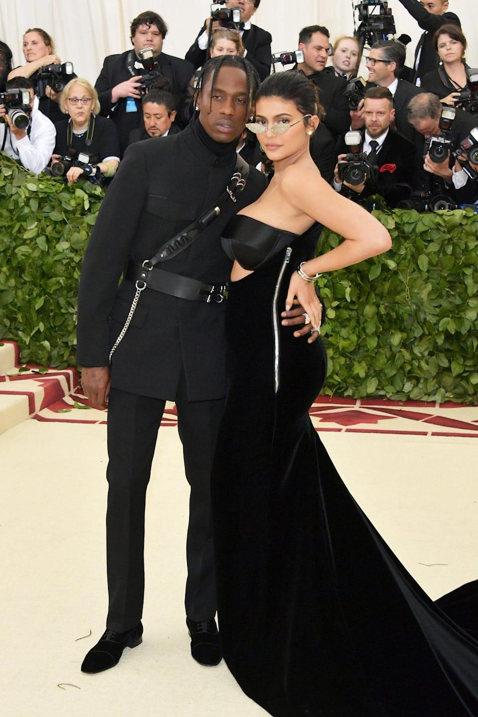 Travis Scott and Kylie Jenner attend the Met Gala 2018