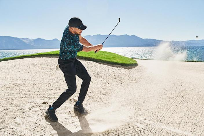 Stephen Curry in selections from his Curry Brand golf collection. - Credit: Courtesy of Curry Brand
