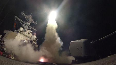 U.S. Navy guided-missile destroyer USS Porter (DDG 78) conducts strike operations while in the Mediterranean Sea