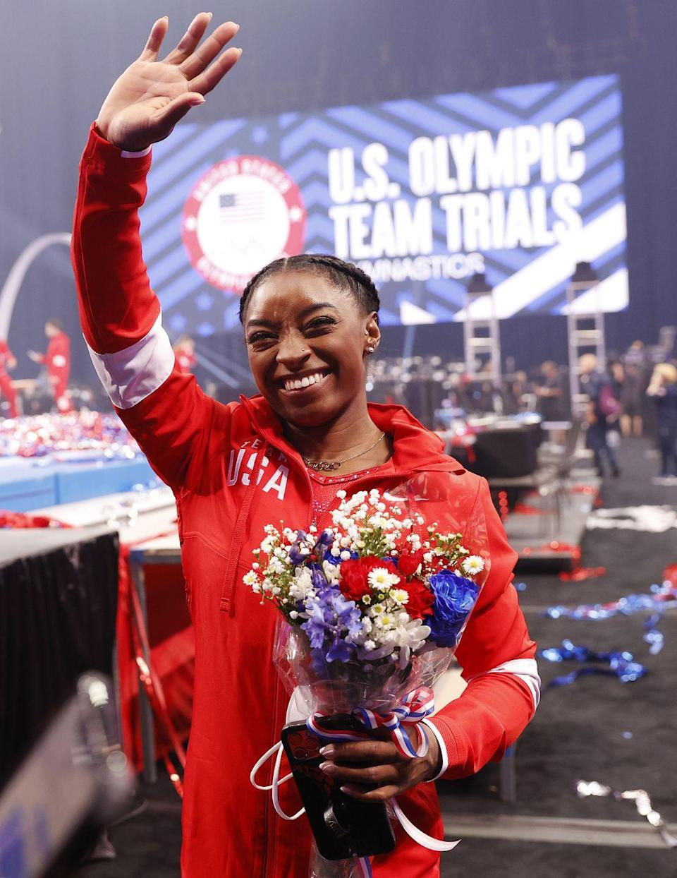"""<p><strong>Sport: </strong>Gymnastics</p><p>As the official GOAT, <a href=""""https://www.oprahdaily.com/entertainment/a36982931/team-usa-gymnastics-team-tokyo-olympics/"""" rel=""""nofollow noopener"""" target=""""_blank"""" data-ylk=""""slk:Biles will lead Team USA"""" class=""""link rapid-noclick-resp"""">Biles will lead Team USA</a> at her second Olympics in Tokyo. During her megawatt career, she's won seven all-around national titles in a row, five Olympic medals, 25 world medals, and has four signature gymnastics moves named after her.<br></p>"""